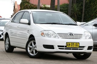 2007 Toyota Corolla ZZE122R MY06 Upgrade Conquest Glacier White 4 Speed Automatic Sedan.