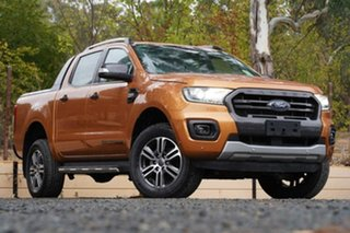 2018 Ford Ranger PX MkIII 2019.00MY Wildtrak Orange 6 Speed Manual Utility.
