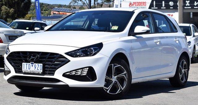 Demo Hyundai i30 PD.V4 MY21 Ferntree Gully, 2020 Hyundai i30 PD.V4 MY21 Polar White 6 Speed Sports Automatic Hatchback