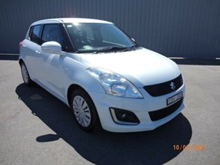 2014 Suzuki Swift FZ MY14 GL Navigator White 4 Speed Automatic Hatchback.