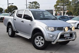 2012 Mitsubishi Triton MN MY12 GL-R Double Cab Silver 4 Speed Automatic Utility.