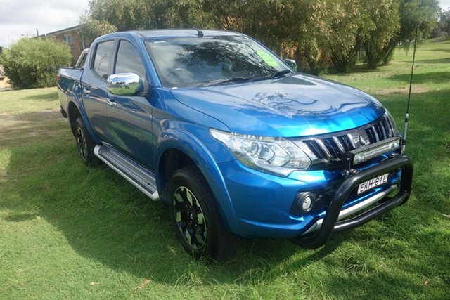 Used Mitsubishi Triton MQ MY18 Exceed Double Cab East Maitland, 2018 Mitsubishi Triton MQ MY18 Exceed Double Cab Blue 5 Speed Sports Automatic Utility