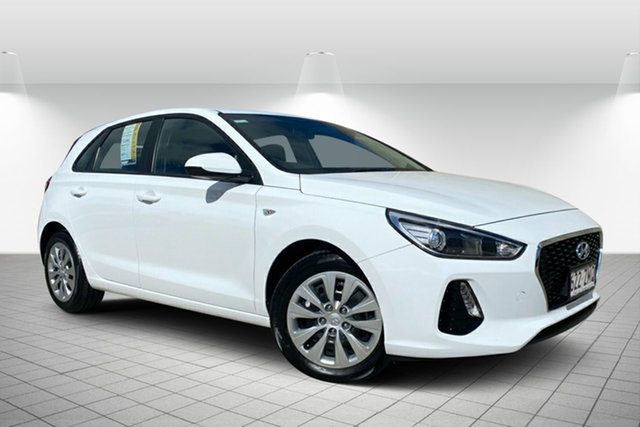 Used Hyundai i30 PD MY19 Go Hervey Bay, 2019 Hyundai i30 PD MY19 Go White 6 Speed Sports Automatic Hatchback