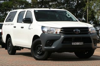 2020 Toyota Hilux TGN121R Workmate Double Cab 4x2 White 6 Speed Sports Automatic Utility.