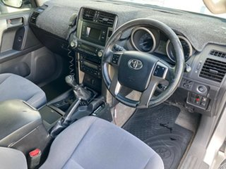 2012 Toyota Landcruiser Prado KDJ150R GXL Silver Pearl 6 Speed Manual Wagon.