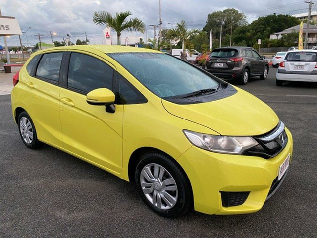 Used Honda Jazz GF MY15 VTi Gladstone, 2015 Honda Jazz GF MY15 VTi Yellow 5 Speed Manual Hatchback