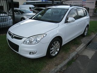 2010 Hyundai i30 FD MY10 CW SX 1.6 CRDi White 4 Speed Automatic Wagon.