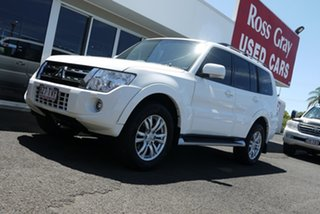 2013 Mitsubishi Pajero NW MY14 VR-X White 5 Speed Sports Automatic Wagon.