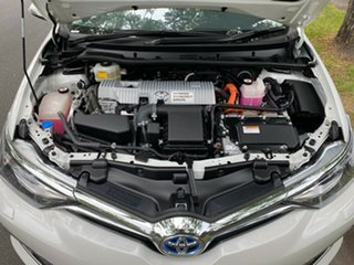 2018 Toyota Corolla ZWE186R Hybrid E-CVT White 1 Speed Constant Variable Hatchback Hybrid.