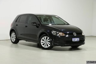 2015 Volkswagen Golf AU MY15 90 TSI Comfortline Black 7 Speed Auto Direct Shift Hatchback.