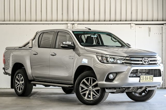 Used Toyota Hilux GUN126R SR5 Double Cab Laverton North, 2016 Toyota Hilux GUN126R SR5 Double Cab Silver 6 Speed Sports Automatic Utility