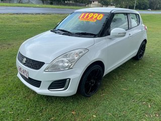 2015 Suzuki Swift FZ MY15 GL White 4 Speed Automatic Hatchback.