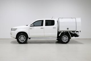 2014 Toyota Hilux GGN15R MY14 SR5 White 5 Speed Automatic Dual Cab Pick-up