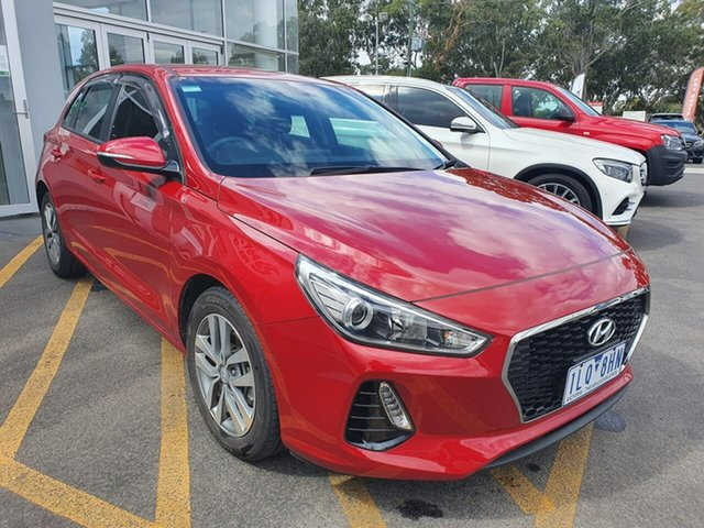 Used Hyundai i30 PD MY18 Active Epsom, 2017 Hyundai i30 PD MY18 Active Red 6 Speed Manual Hatchback