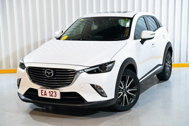 Used Mazda CX-3 DK4W7A Akari SKYACTIV-Drive i-ACTIV AWD Hendra, 2015 Mazda CX-3 DK4W7A Akari SKYACTIV-Drive i-ACTIV AWD White 6 Speed Sports Automatic Wagon