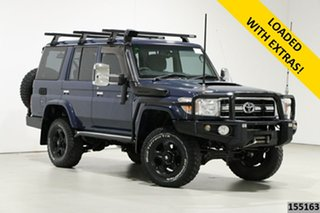 2014 Toyota Landcruiser VDJ76R MY12 Update GXL (4x4) Blue 5 Speed Manual Wagon.
