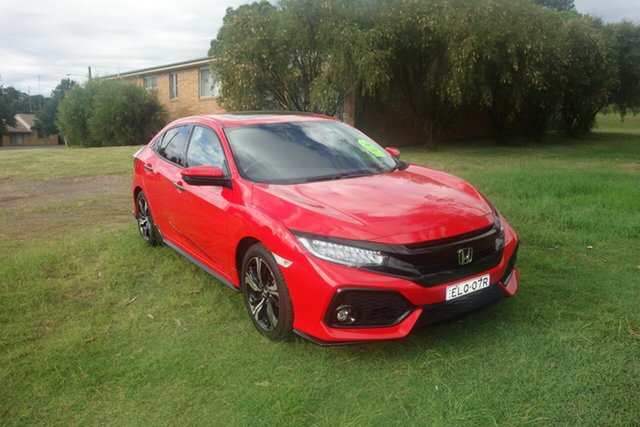 Used Honda Civic 10th Gen MY17 RS East Maitland, 2017 Honda Civic 10th Gen MY17 RS Red 1 Speed Constant Variable Hatchback