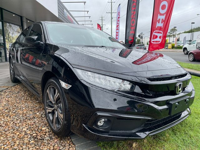 New Honda Civic 10th Gen MY20 VTi-LX Mount Gravatt, 2020 Honda Civic 10th Gen MY20 VTi-LX Crystal Black 1 Speed Constant Variable Sedan