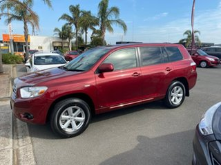2010 Toyota Kluger GSU40R KX-R Red Sports Automatic SUV.