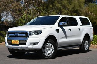 2017 Ford Ranger PX MkII 2018.00MY XLT Double Cab 4x2 Hi-Rider White 6 Speed Sports Automatic.