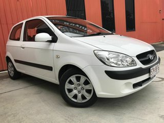 2009 Hyundai Getz TB MY09 S White 4 Speed Automatic Hatchback.