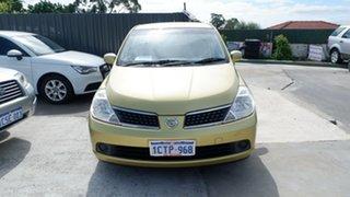 2008 Nissan Tiida C11 MY07 ST Green 6 Speed Manual Hatchback.
