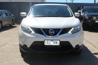 2014 Nissan Qashqai J11 ST White Continuous Variable Wagon.