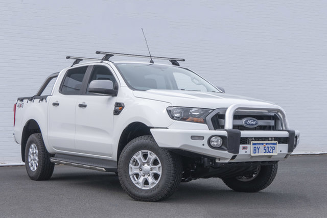 Used Ford Ranger PX MkII XLS Double Cab Bunbury, 2016 Ford Ranger PX MkII XLS Double Cab White 6 Speed Sports Automatic Utility