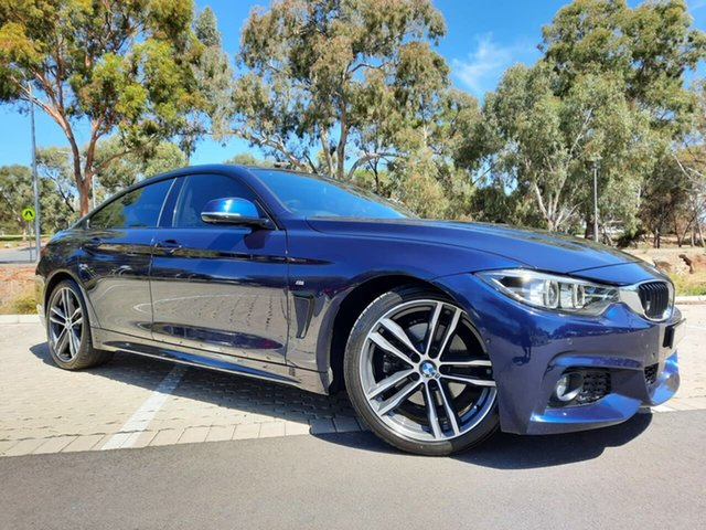 Used BMW 4 Series F36 LCI 430i Gran Coupe M Sport Adelaide, 2017 BMW 4 Series F36 LCI 430i Gran Coupe M Sport Blue 8 Speed Sports Automatic Hatchback