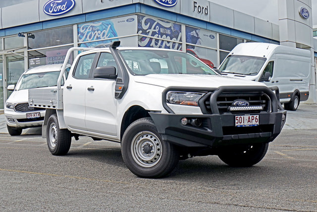 Used Ford Ranger PX MkIII 2020.75MY XL Springwood, 2020 Ford Ranger PX MkIII 2020.75MY XL White 6 Speed Sports Automatic Double Cab Chassis