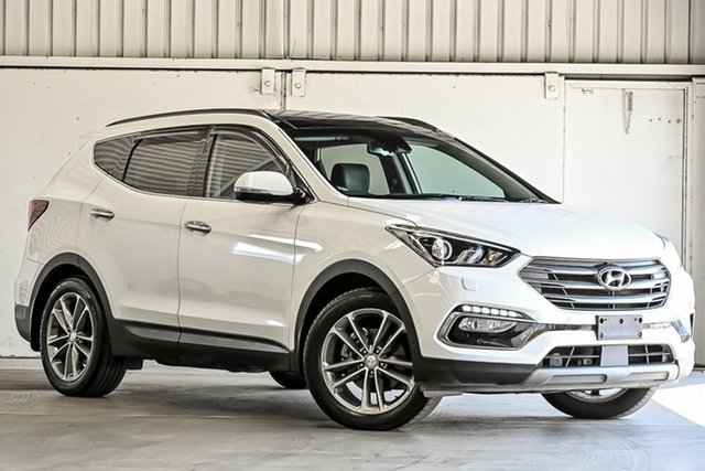 Used Hyundai Santa Fe DM5 MY18 Highlander Laverton North, 2018 Hyundai Santa Fe DM5 MY18 Highlander White 6 Speed Sports Automatic Wagon