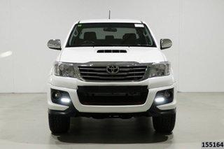 2014 Toyota Hilux KUN26R MY14 SR5 Black (4x4) White 5 Speed Automatic Dual Cab Pick-up.