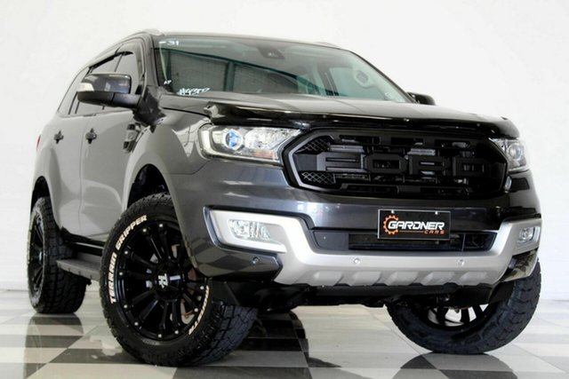 Used Ford Everest UA MY17 Trend Burleigh Heads, 2016 Ford Everest UA MY17 Trend Grey 6 Speed Automatic SUV