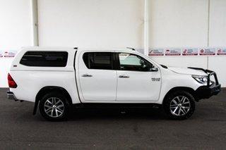 2017 Toyota Hilux GUN126R SR5 (4x4) Glacier White 6 Speed Manual Dual Cab Utility