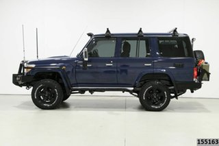 2014 Toyota Landcruiser VDJ76R MY12 Update GXL (4x4) Blue 5 Speed Manual Wagon