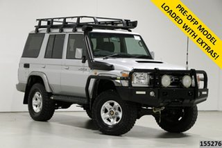 2015 Toyota Landcruiser VDJ76R MY12 Update GXL (4x4) Silver 5 Speed Manual Wagon.