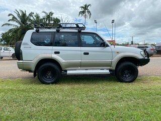1999 Toyota Landcruiser Prado VZJ95R GXL White 4 Speed Automatic Wagon.