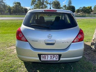2008 Nissan Tiida C11 MY07 ST-L Silver 4 Speed Automatic Hatchback