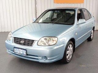 2005 Hyundai Accent LC MY04 GL Blue 5 Speed Manual Hatchback.