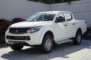 2017 Mitsubishi Triton MQ MY18 GLX Double Cab White 5 Speed Sports Automatic Utility