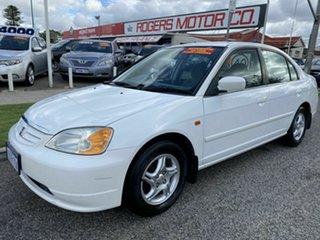 2002 Honda Civic 7th Gen GLi White 4 Speed Automatic Sedan.
