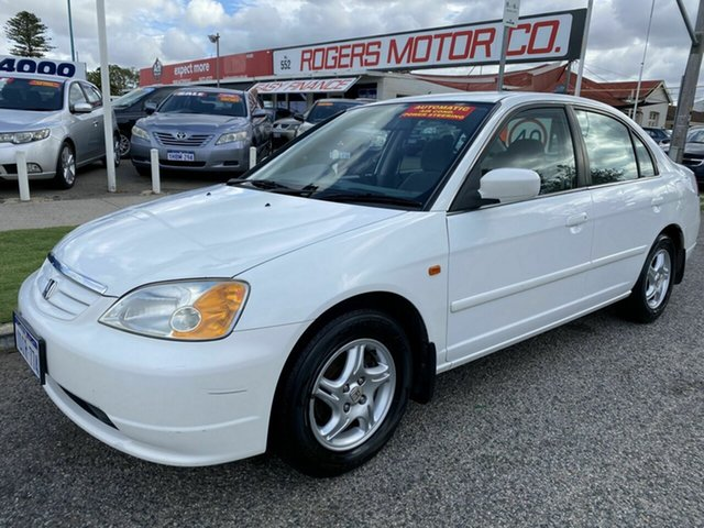 Used Honda Civic 7th Gen GLi Victoria Park, 2002 Honda Civic 7th Gen GLi White 4 Speed Automatic Sedan
