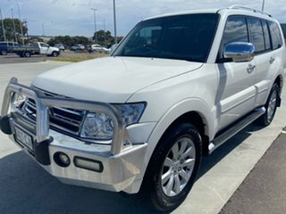 2010 Mitsubishi Pajero NT MY10 Exceed White 5 Speed Sports Automatic Wagon.
