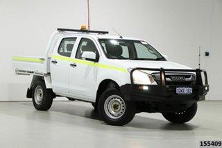 2018 Isuzu D-MAX TF MY17 SX (4x4) White 6 Speed Automatic Crew Cab Chassis.