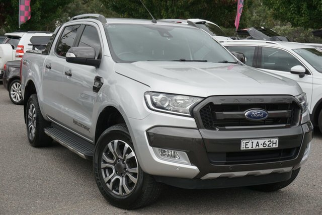 Used Ford Ranger PX MkII 2018.00MY Wildtrak Double Cab Phillip, 2017 Ford Ranger PX MkII 2018.00MY Wildtrak Double Cab Silver 6 Speed Sports Automatic Utility