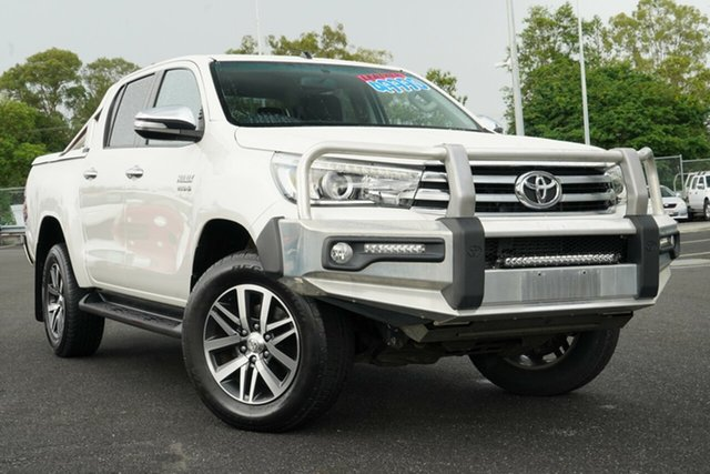 Used Toyota Hilux GUN126R SR5 Double Cab Hillcrest, 2015 Toyota Hilux GUN126R SR5 Double Cab White 6 Speed Sports Automatic Utility