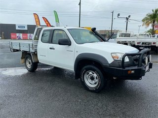 2008 Mazda BT-50 UNY0E3 DX White 5 Speed Manual Cab Chassis.
