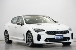 2017 Kia Stinger CK MY18 GT-Line Fastback White 8 Speed Sports Automatic Sedan