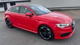 2013 Audi A3 8V Ambition Sportback S Tronic Quattro Red 6 Speed Sports Automatic Dual Clutch.
