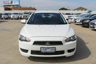 2011 Mitsubishi Lancer CJ MY11 SX White 6 Speed Constant Variable Sedan